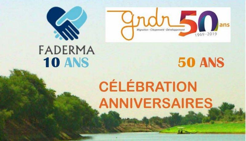 """La FADERMA et le GRDR, fêtent respectivement leurs 10 ans et leurs 50 ans et organisent ensemble une journée anniversaire le 23 mars 2019 à l'ECM """"Le Chaplin"""" – Place Pierre Mendès France (accès par le 32 rue Jean Mermoz – 78 200 Mantes la Jolie)"""