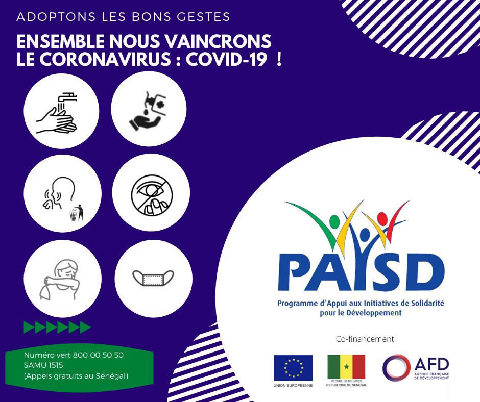 Mars 2020 Ensemble nous vaincronsle Coronavirus: COVID-19!